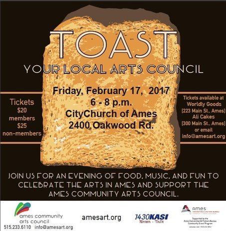 Toast Your Local Arts Council Fundraiser image